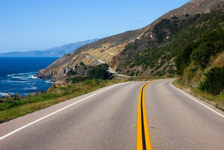 Highway through California Coast