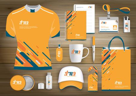 Illustration pour Gift Items business corporate identity - image libre de droit