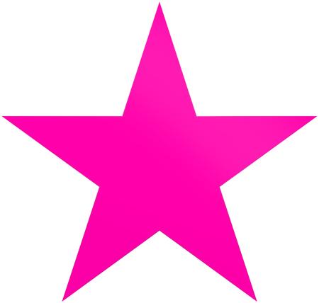 Foto de Christmas star purple - simple 5 point star - isolated on white - 3d rendering - Imagen libre de derechos