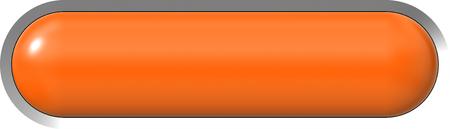 Foto de Web button 3d - orange glossy realistic with metal frame, easy to expand - 3d rendering - Imagen libre de derechos