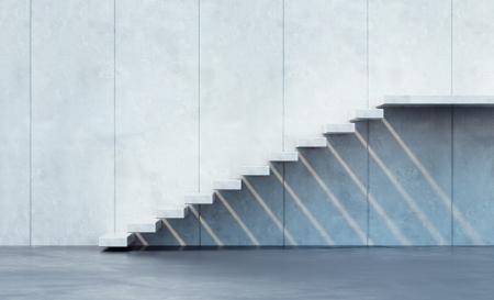 Photo pour minimalism style stairs illuminated by sun - image libre de droit