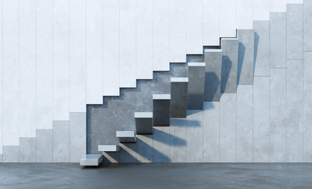 Foto de stairs leading upward, architectural composition - Imagen libre de derechos