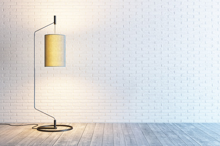 Foto de modern interior of the room with floor lamp - Imagen libre de derechos