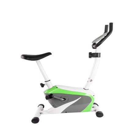 Foto de Exercise bicycle isolated on white background - Imagen libre de derechos