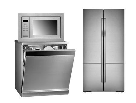 Photo for refrigerator, oven and dishwasher isolated on white background - Royalty Free Image