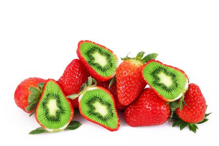 Photo for strange ibrid fruit strawberry-kiwi - Royalty Free Image