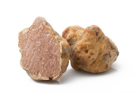 Foto de original italian white truffle on white background - Imagen libre de derechos