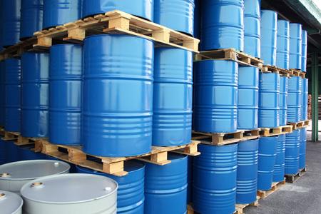 Photo pour many Drums for chemical liquids - image libre de droit
