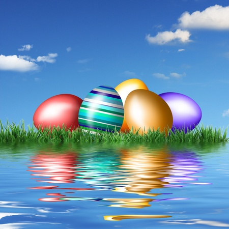 Photo for Beautiful decorations for the Easter - Royalty Free Image