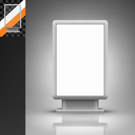 Illustration pour Template for advertising and corporate identity. Vertical citylight. Blank mockup for design. Vector white object - image libre de droit