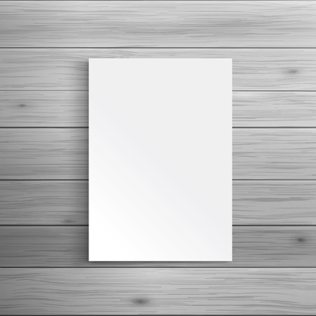 Illustration for Template for advertising and corporate identity. Blank folded brochure or leaflet. Blank mockup for design. Vector white object - Royalty Free Image