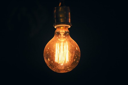 Photo for Vintage light bulb - Royalty Free Image