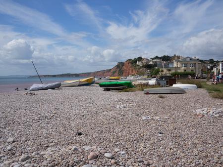 Photo pour Budleigh Salterton Beach, Devon - image libre de droit
