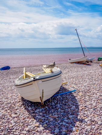 Photo pour boat on the beach - image libre de droit