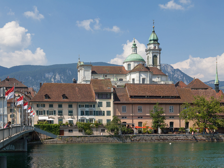 Photo for Solothurn cityscape with St  Ursus Cathedral - Royalty Free Image