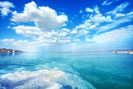 Photo pour nice Dead Sea landscape on a summer day - image libre de droit