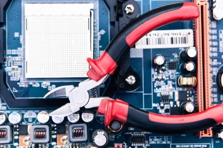Foto de repair and maintenance of computer equipment - Imagen libre de derechos