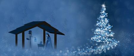Ilustración de Christmas greeting card design concept. - Imagen libre de derechos