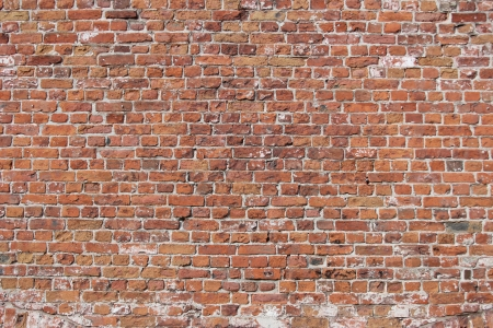 Decorative old brick wall