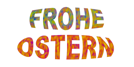 Photo for German Frohe Ostern Greeting letters white isolated - Royalty Free Image