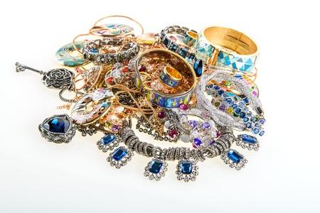Photo pour variety of jewels and precious gemstones background - image libre de droit