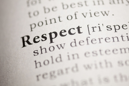 Photo for Fake Dictionary, Dictionary definition of the word Respect. - Royalty Free Image