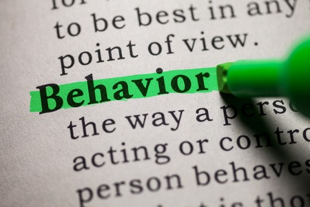 Foto de Fake Dictionary, definition of the word behavior  - Imagen libre de derechos