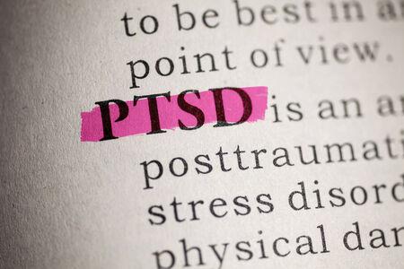Foto de Fake Dictionary, Dictionary definition of the word PTSD  Post Traumatic Stress Disorder  - Imagen libre de derechos