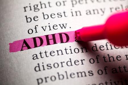 Foto de Fake Dictionary, definition of the word ADHD  - Imagen libre de derechos