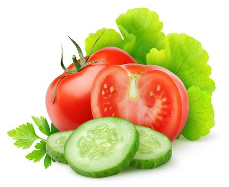 Photo pour Fresh vegetables isolated on white - image libre de droit