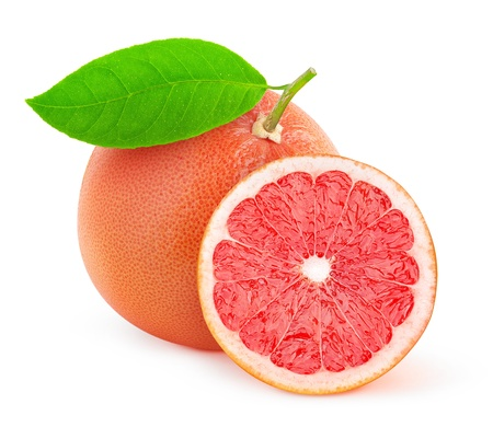 Photo for Pink grapefruit isolated on white - Royalty Free Image