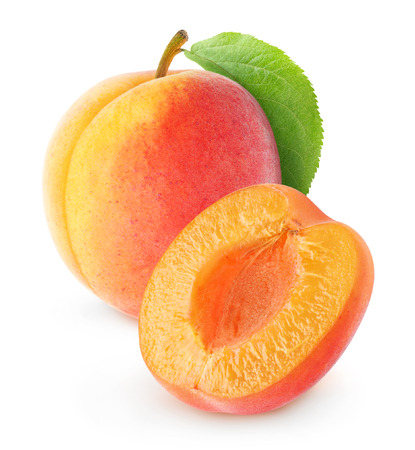 Photo for Fresh apricot isolated on white - Royalty Free Image