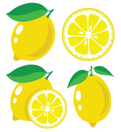 Ilustración de Fresh lemons, collection of  illustration - Imagen libre de derechos