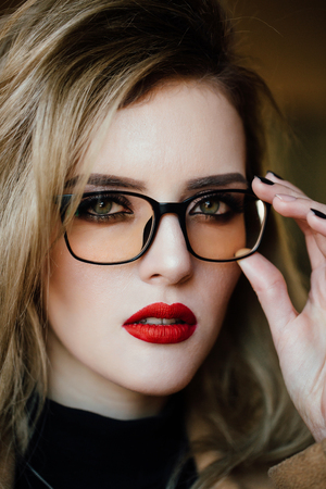 Photo for portrait of a girl in glasses. - Royalty Free Image