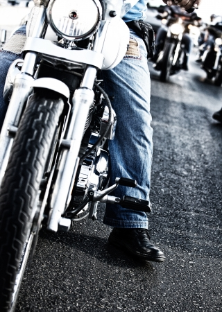 Image of bikers riding motorbikes