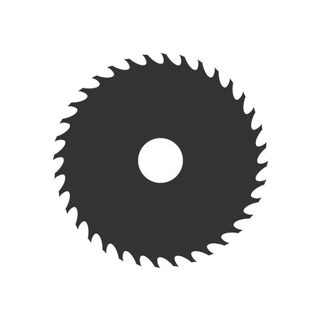 Illustration pour Circular saw blade icon isolated on white background. Vector illustration - image libre de droit