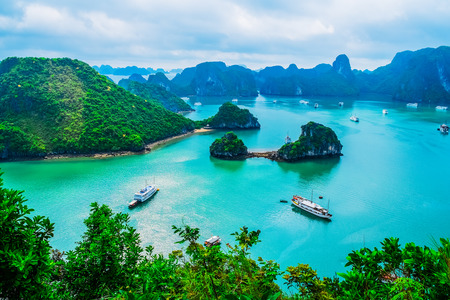Photo for Scenic view of islands in Halong Bay, Vietnam, Southeast Asia - Royalty Free Image