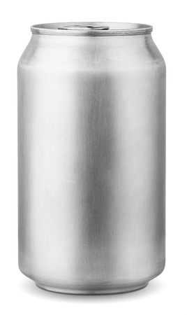 Foto de 330 ml aluminum can isolated on white background with clipping path - Imagen libre de derechos