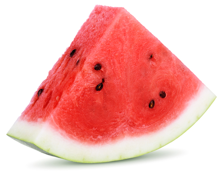Photo pour Slices of watermelon isolated on white background - image libre de droit