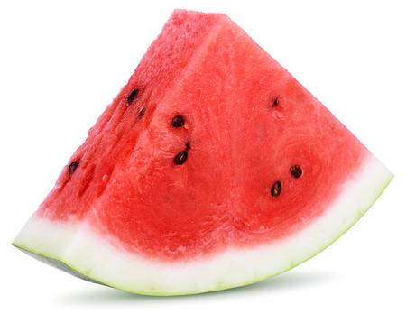Foto de Slices of watermelon isolated on white background - Imagen libre de derechos