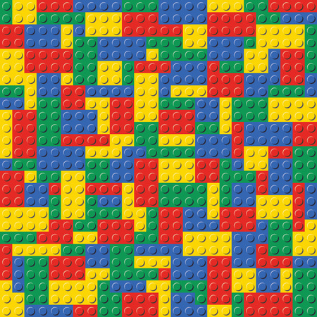 Illustration for Lego Brick Seamless Background Pattern - Royalty Free Image