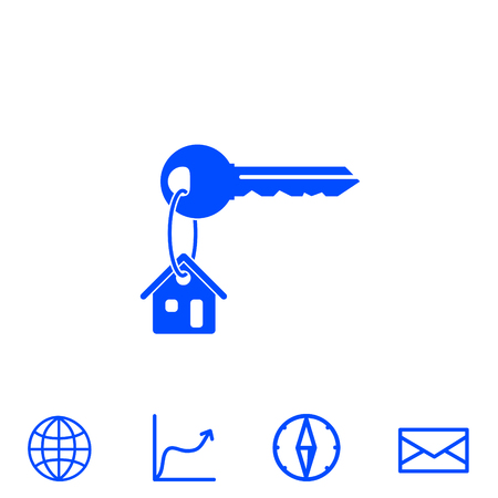 Illustration for house key vector icon - Royalty Free Image