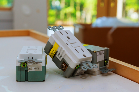 Photo pour electrical outlets and covers Electrical outlets outlet, home, power - image libre de droit