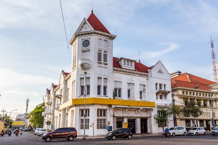 Photo for Typical Dutch colonial building  in Surabya, East Java , Indonesia - Royalty Free Image