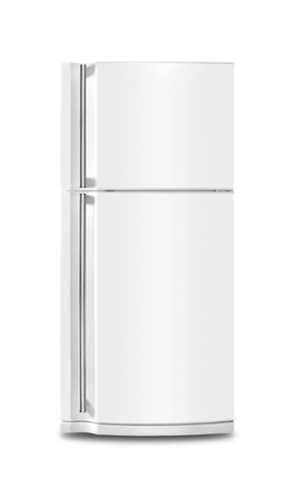 Photo pour Major appliance - The Refrigerator fridge on a white background. Isolated - image libre de droit
