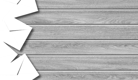 Foto de Postage and packing service - Envelope frame on a wood background. - Imagen libre de derechos