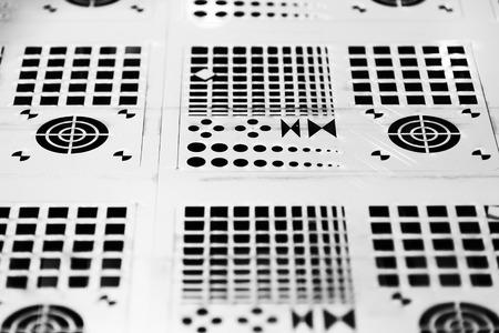 Photo pour The sheet metal plate form punching machine.Sheet metal working manufacturing concept. - image libre de droit