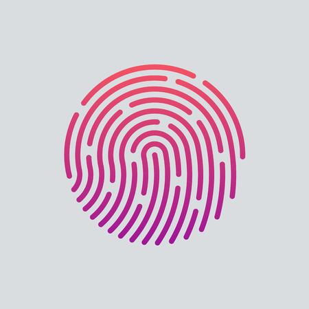 Illustration pour ID app icon. Fingerprint vector illustration - image libre de droit