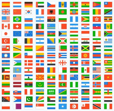Illustration pour Flag of world. Vector icons - image libre de droit