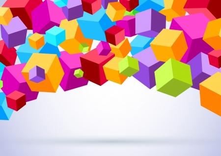 Illustration pour Background with colorful cubes  Vector illustration - image libre de droit